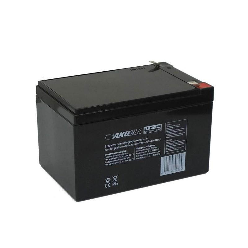 Akumulator 12V12Ah - mocowany na wsuwki