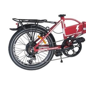 czerwony rower elektryczny Overfly Zing