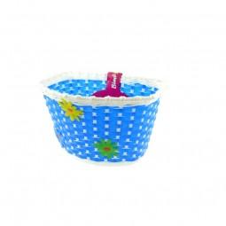 Koszyk pleciony - niebieski
