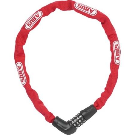 ABUS zapięcie na szyfr - łańcuch 5805C/75 Red Steel O Chain